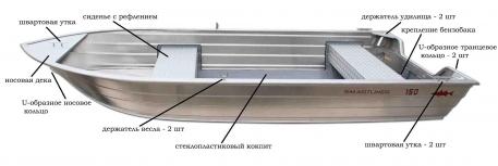 Алюминиевая лодка Smartliner 130