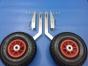 Транцевые колеса для лодки КТ-1н нержавеющая сталь - фото 2