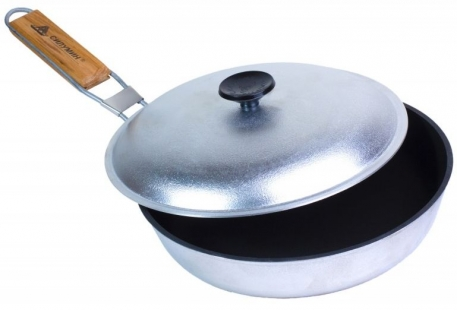 Сковородка туристическая Сілумін 240 антипригарная