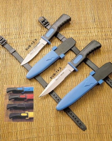 Нож ныряльщика Muela Sub-14.3R синий.