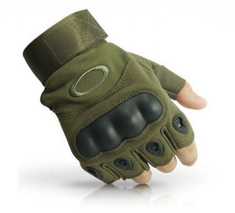 Тактические перчатки беспалые хаки.