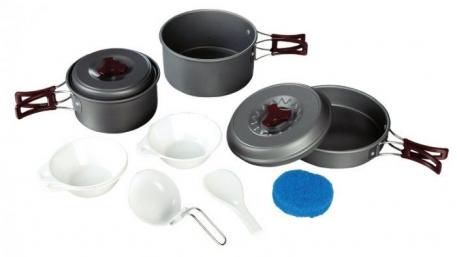Набор посуды Tramp из анодированого алюминия на 2-3 персоны