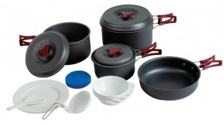 Набор посуды Tramp из анодированного алюминия на 4-5 персон