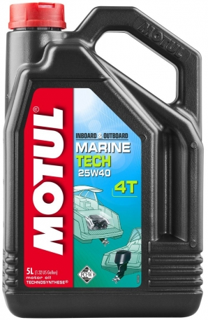 Масло моторное Motul Marine Tech 4T 25W-40 5 литров