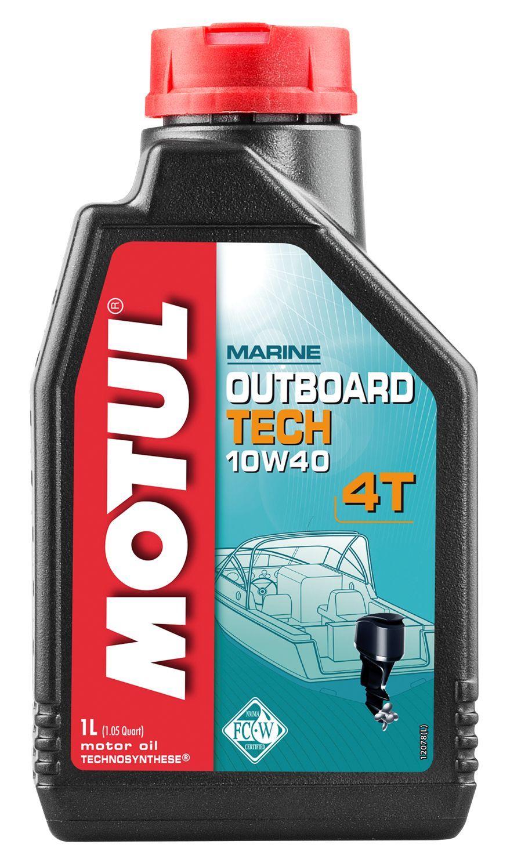Масло моторное Motul Outboard Tech 4T 10W-40 1 литр - фото 1