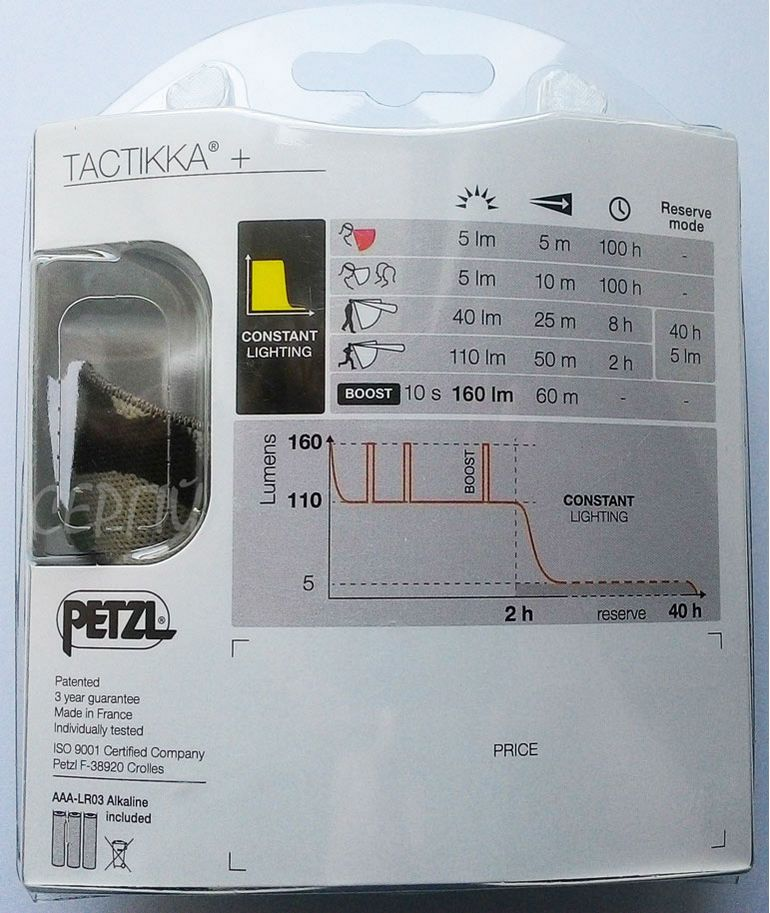 Налобный фонарь Petzl TACTIKKA + - фото 15