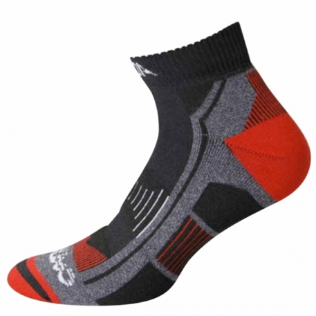 Треккинговые носки Accapi Trekking Ultralight Crew 999 black/red 37-39