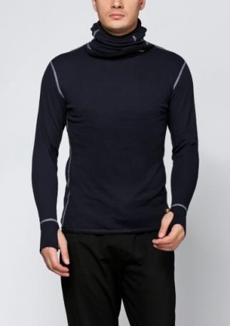 Огнестойкое худи Aclima Work X-Warm Hood Sweater DarkNavy XXL