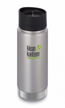Термофляга Klean Kanteen Wide Vacuum Insulated Cafe Cap Brushed Stainless 473 ml
