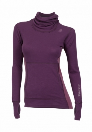 Худи жен. Aclima WarmWool Hood Sweater Woman Grape Wine/Damson XS