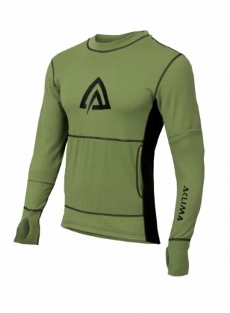 Худи муж. Aclima WarmWool Hood Sweater Man Forest Green/Black L