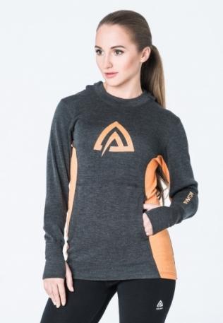 Худи жен. Aclima WarmWool Hood Sweater Woman Marengo/MuskMelon L