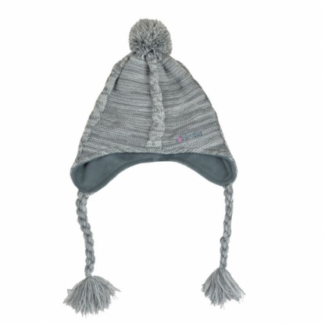 Непродуваемая шапка Extremities Cable Knit Took Grey Marl one size