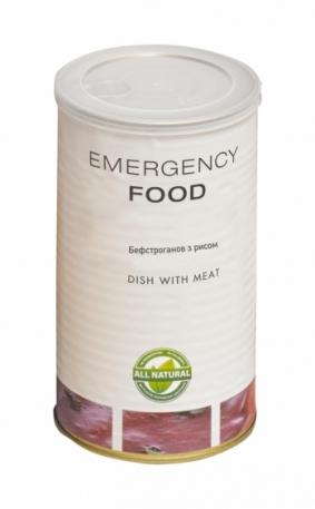 Сублиматы Emergency Food Бефстроганов с рисом в банке 1,2 л