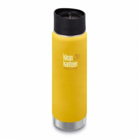 Термофляга Klean Kanteen Wide Vacuum Insulated Cafe Cap Lemon Curry (matt) 592 ml