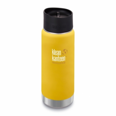 Термофляга Klean Kanteen Wide Vacuum Insulated Cafe Cap Lemon Curry (matt) 473 ml