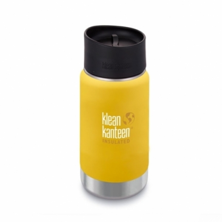 Термофляга Klean Kanteen Wide Vacuum Insulated Cafe Cap Lemon Curry (matt) 355 ml