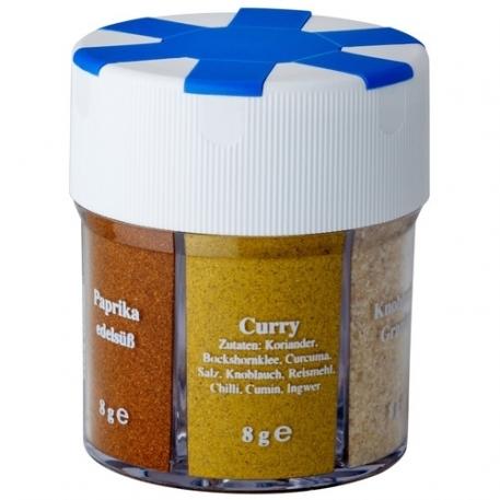 Контейнер с приправами Trek'n Eat Seasonings Dispenser 6-parts filled (соль, черный перец, белый перец, паприка, чеснок, карри)