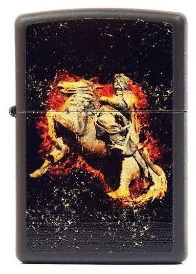 Зажигалка Zippo Flaming Cossack