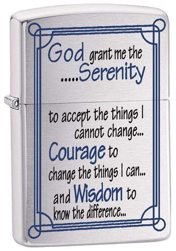 Зажигалка Zippo Serenity Prayer - фото 1