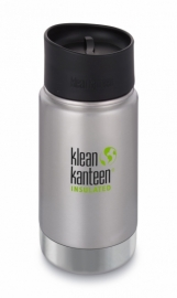 Термофляга Klean Kanteen Wide Vacuum Insulated Cafe Cap Brushed Stainless 355 ml