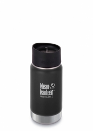 Термофляга Klean Kanteen Wide Vacuum Insulated Cafe Cap Shale Black (matt) 355 ml