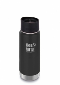 Термофляга Klean Kanteen Wide Vacuum Insulated Cafe Cap Shale Black (matt) 592 ml