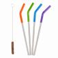 Набор стальных трубочек Klean Kanteen 5 Piece Straw Set Multi Colored - фото 1