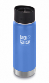 Термофляга Klean Kanteen Wide Vacuum Insulated Cafe Cap Pacific Sky (matt) 473 ml