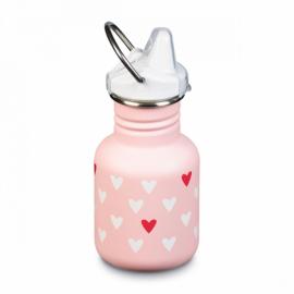 Бутылка для воды Kid Kanteen Classic Sippy Cap Millennial Hearts Matt 355 мл