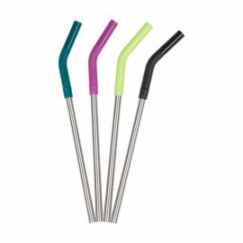 Набор стальных трубочек Klean Kanteen Straw 8 mm 4-Pack Multi Colored
