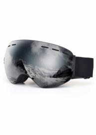 Маска для лыж и сноуборда Sposune HX003-1 Matte Black-Mirror Grey