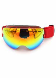 Маска для лыж и сноуборда Sposune HX003-2 Matte Red-Full Revo Red