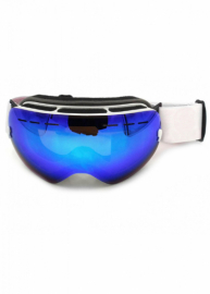 Маска для лыж и сноуборда Sposune HX003-3 Matte White-Full Revo Blue