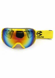 Маска для лыж и сноуборда Sposune HX008-1 Glossy Yellow-Fake Revo Red