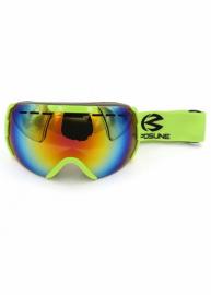 Маска для лыж и сноуборда Sposune HX008-2 Glossy Green-Fake Revo Red
