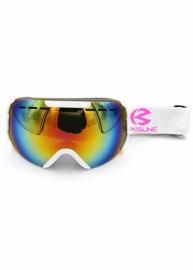 Маска для лыж и сноуборда Sposune HX008-3 Glossy White-Fake Revo Green