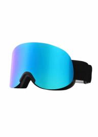 Маска для лыж и сноуборда Sposune HX041-1 Matte Black-Full Revo Blue