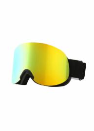 Маска для лыж и сноуборда Sposune HX041-2 Matte Black-Full Revo Golden