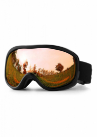Маска для лыж и сноуборда Sposune HX043-1 Glossy Black-Brown