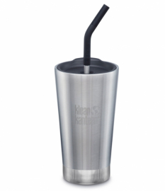 Термостакан тамблер с соломинкой Klean Kanteen Insulated Tumbler Brushed Stainless 473 мл