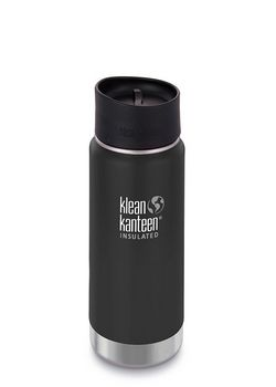 Термофляга Klean Kanteen Wide Vacuum Insulated Cafe Cap Shale Black (matt) 473 ml