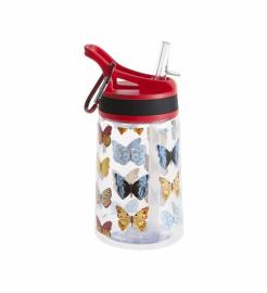Бутылка для воды Summit Kids Girls c соломинкой и карабином красная 350 мл