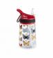 Бутылка для воды Summit Kids Girls c соломинкой и карабином красная 350 мл - фото 1