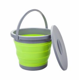 Ведро складное с крышкой Summit Pop Bucket With Lid Lime/Grey 5 л