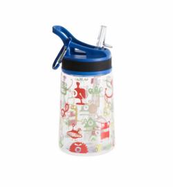 Бутылка для воды Summit Kids Boys c соломинкой и карабином синяя 350 мл