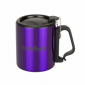 Термокружка Summit Double Walled Mug Clip Handle с крышкой фиолетовая 300 мл - фото 1