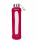 Бутылка для воды Summit MyBento Eco Glass Bottle Silicone Cover красная 500 мл - фото 1