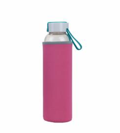 Бутылка для воды Summit MyBento Eco Glass Bottle Neoprene Cover розовая 550 мл