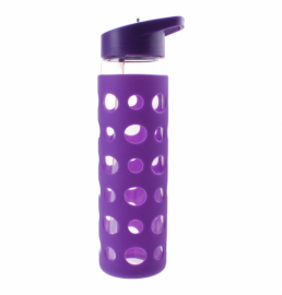 Бутылка Summit MyBento Eco Glass Bottle Sports Lid Silicone Cover фиолетовая 550 мл
